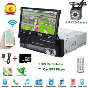 Autoradio-1-DIN-7-039-039-Pantalla-Tactil-Coche-MP5-USB-Player-GPS-Bluetooth-EU-Map