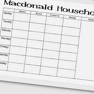 photograph regarding Family Planner Calendar titled Facts above Household Planner, Weekly Timetable, Calendar, customized dry wipe board A3