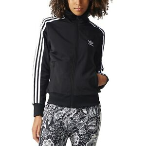 buffet profundizar precio  adidas Originals Women's Firebird Track Jacket Black White Sport Casual  Retro | eBay