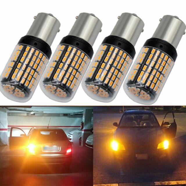 2x P21W LED Amber Orange Front Rear Indicator Signal Bulbs Canbus 1156 BA15S