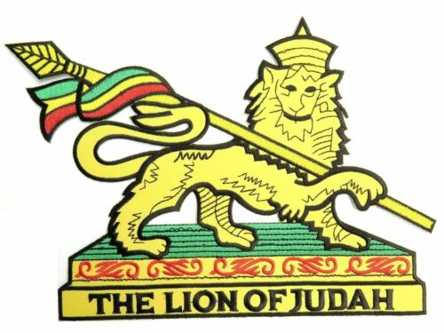 "Rasta Flag Lion Of Judah Cut Out Jumbo XL Embroidered Back Patch 9.6/""x6.7/"""