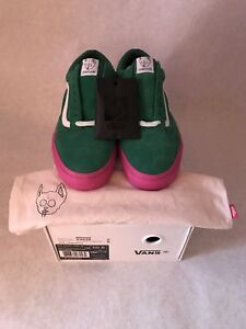 VANS X Golf Wang Syndicate Old Skool Green Pink Size 10.5 Supreme ... a65e092db