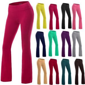 445a1a44c77 Women s High Waist Bootcut Running Yoga Pants Fitness workout ...