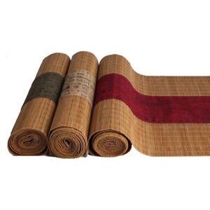 Chinesisch Bambus Tuch Klebestelle Tischlaufer Kungfu Tee Pad