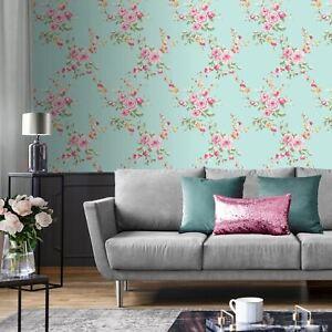 Lansfield-Floral-165500-Papier-Peint-Oeuf-de-Canard-Rose-Chambre