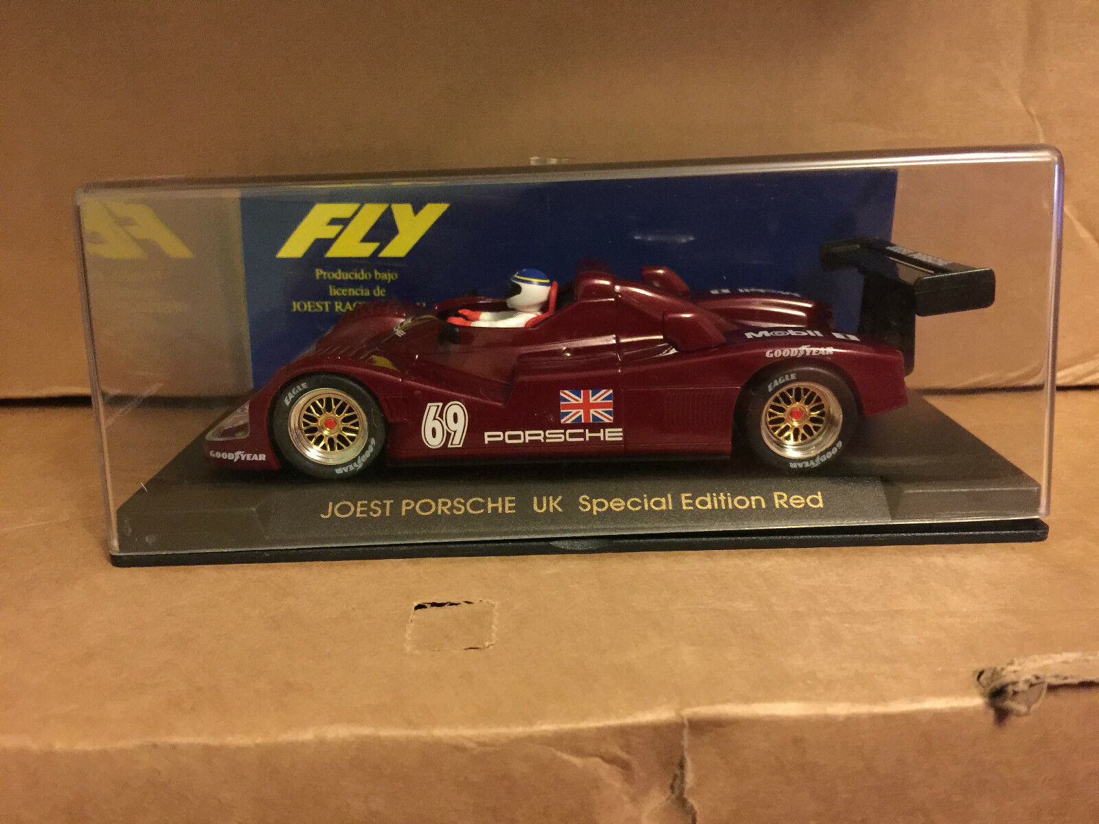 M B FLYCAR PORSCHE JOEST RED  UK SPECIAL LIMITED EDITION REF E41