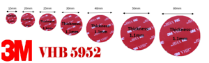 Double-Sided  ROUND ONLY 3M Self Adhesive Pads for Dash Cams NEW & IMPROVED
