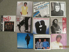 LOT of 10 MICHAEL JACKSON 45rpm Picture Sleeves (only)