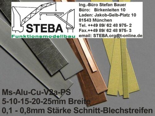 5 Pièces Aluminium Tôle Bandes 20x0 8 mm STEBA 5838//20