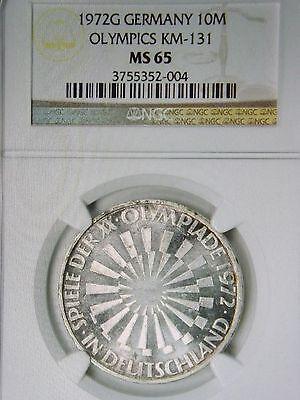 1972-G Germany Silver 10 Mark KM-131  Olympic