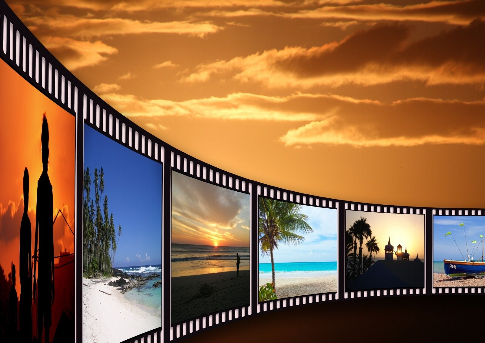 3D film Sunset sky Wall Paper Print Decal Wall Deco Indoor wall Mural