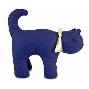 Hand-crafted-KITTY-CAT-100-Cotton-12-in-High-Firmly-Stuffed-Handmade