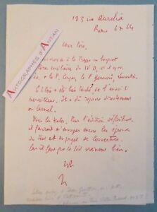 L-A-S-1964-Jean-GUITTON-Philosophe-academicien-ROME-banquet-Lettre-Victor-Puaud