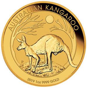 2019 $100 1oz Gold Australian Kangaroo .9999 BU