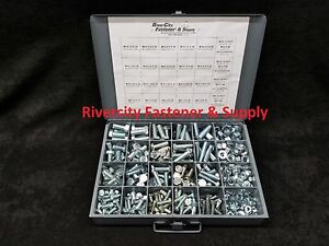 Bolt and washer assortment kit 490 Pieces Zinc plated New Grade 5 Nut