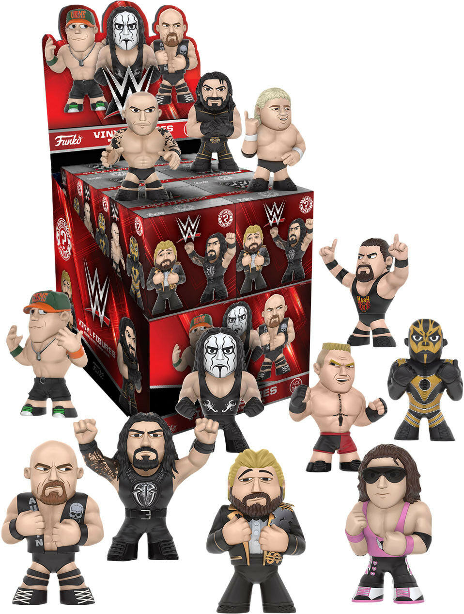 WWE - Wrestling Mystery Minis S2 Blind scatola 2.5  divertiessitoko Vinyl cifras Display (12)