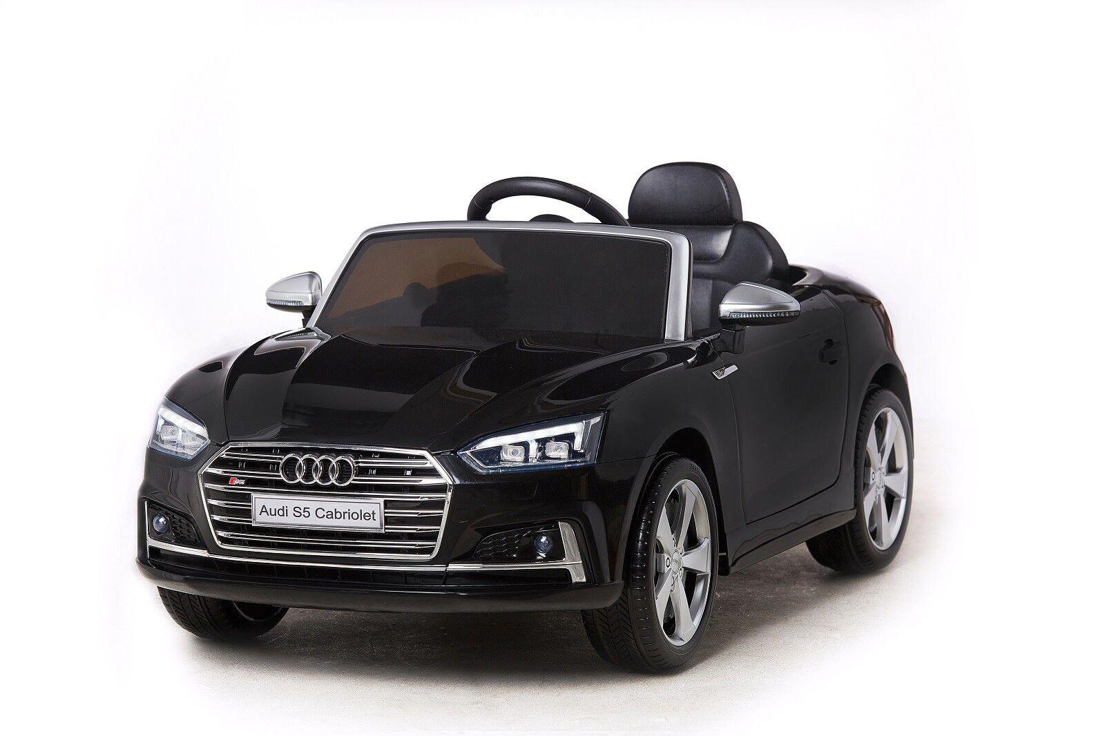 Elektro Kinder Auto Fahrzeug Elektrofahrzeug Cabrio Akku 2 x 35W Audi S5 Schwarz
