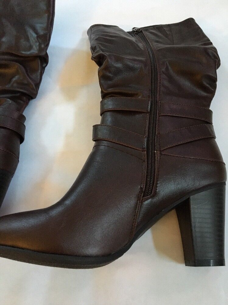 Maurices Vienna Heeled Boot. Brown color. Size 8 NEW In Box