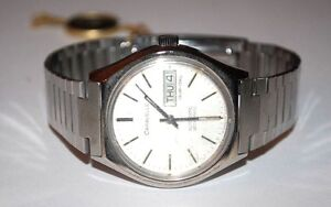 VINTAGE-CARAVELLE-SETOMATIC-STAINLESS-STEEL-WATCH-DUAL-DAY-AUTOMATIC-RUNS