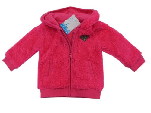 Feetje Jacke Babyjäckchen Flausch Pink Mädchen Baby Kapuze Gr.80,86