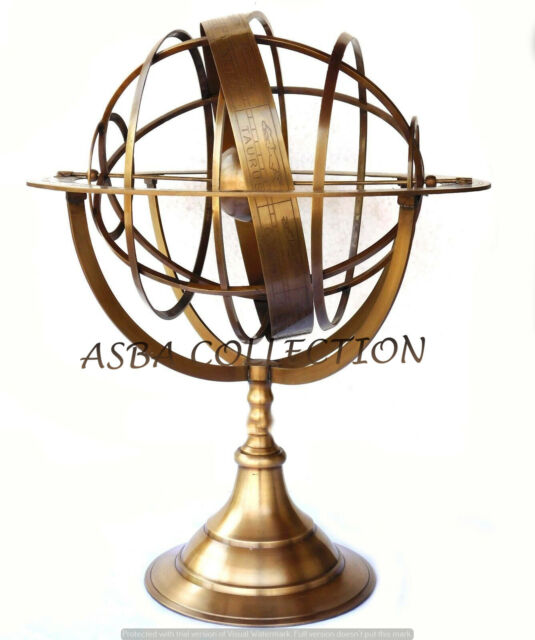 Stunning Large Antique Brass Celestial, Antique Armillary Sphere