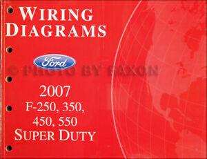 2007 Ford F250-F550 Wiring Diagram Manual F-250 F-350 F-450 F-550 Super  Duty | eBay | Ford F 450 Wiring Diagram |  | eBay