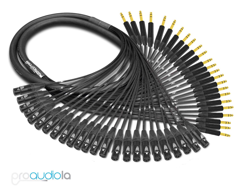 economico e di alta qualità Premium Mogami 2936 24 Canale Serpente Serpente Serpente Neutrik oro Trs Xlr-F 7.6m 7.6m  vendite online