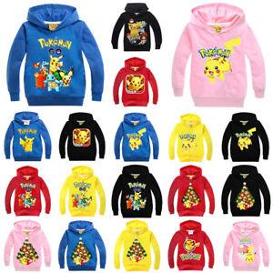 ea9966b4d Image is loading Pokemon-Go-Pikachu-Kids-Boys-Girls-Hooded-Sweatshirt-