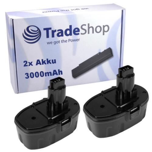 2x Batterie 3000mah 18v ni-mh pour DEWALT dc020 dc212b dc212kb dc212kz dc212n