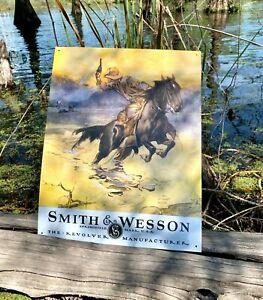 Smith-amp-Wesson-Hostiles-Vintage-Metal-Tin-Sign-Wall-Decor-Garage-Man-Cave-Home