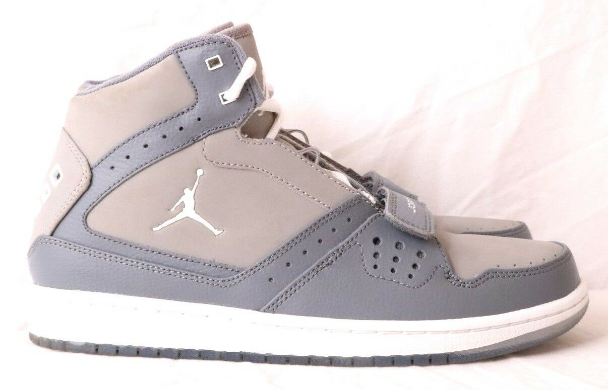 Nike 628584 Jordan 1 Flight Strap Two-Tone Gray HT Basketball Sneaker Men's US 8