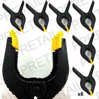"""6 x 6""""/150mm +LARGE NYLON SPRING CLAMPS+ QUICK STRONG GRIP CLIP SET Swivel Nose"""
