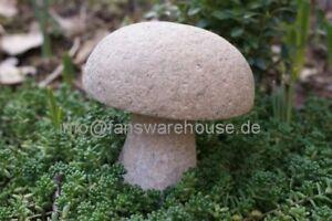 riesen steinpilz pilz aus naturstein granit garten deko ebay