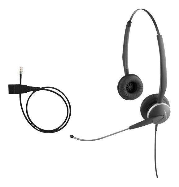 Jabra GN2100 VoIP Duo Black Headband Headsets