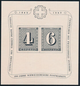 SCHWEIZ-1943-Block-8-tadellos-postfrisch-Mi-100