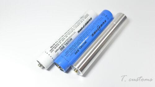 18650 Adapter for Surefire B90 B92 8NX 9AN 8AX 8N 8X 9N