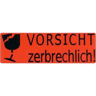 100x Vorsicht Zerbrechlich Etiketten Glas Post Paket Brief Aufkleber Sticker Ebay