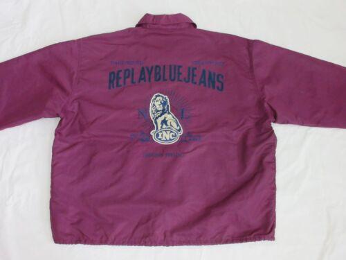 Blue Vintage Violet Zx Xxl Tip Aubergine Top Taille Jeans Veste Lion Replay Manteau FngUF1