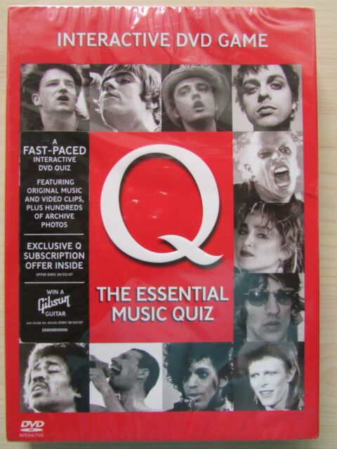 """ Q (The Essential Music Quiz)"" Various Artists (DVD 2006) New & Factory Sealed."