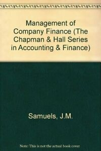 Management-of-Company-Finance-The-Chapman-amp-Hall-by-Brayshaw-R-E-Paperback