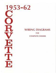 1953 1960 1961 1962 corvette electrical wiring diagram schematic rh ebay com