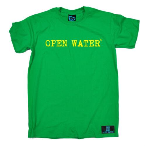 Open Water Yellow Text Logo T-SHIRT Dive Gear Scuba Diving birthday fashion gift