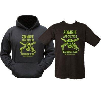 ZOMBIE APOCALYPSE GIFT PACK HOODIE /& T-SHIRT MENS S-2XL HOODY RESPONSE TEAM