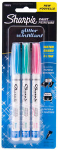 Sharpie-Glitter-Water-based-Opaque-Paint-Markers-Extra-Fine-Aqua-Dark-Pink-Blue