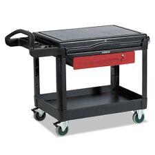 Rubbermaid Commercial TradeMaster Cart, 500-lb Cap, One-Shelf, - RCP453588BLA