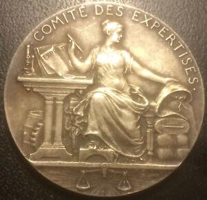 Medaille-argent-COMITE-DES-EXPERTISES-loi-du-27-juillet-1822-poincon-corne