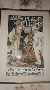 INTROUVABLE A LA PLACE CLICHY Litho Maîtres de l'Affiche E. GRASSET 1891Eugène