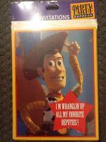 Party Express/hallmark Toy Story Woody Vtg Birthday Party Invitations (8)
