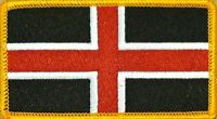 Durham England Flag Patch With Velcro® Brand Fastener Gold Border 11