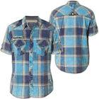 AFFLICTION Men Embroidered Button Down Shirt VIEW FINDER Biker UFC Roar $78